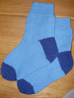 First pair of hand knitted socks
