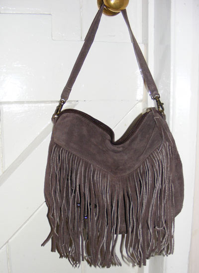 Fringed handbag