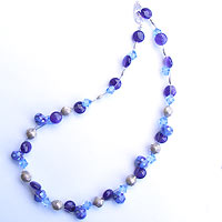 Hand made lampwork bead necklace