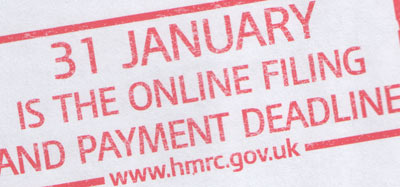 31 January is the on line tax return deadline