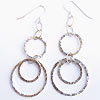 Sterling silver hammer finished earrings