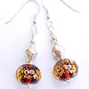 Handmade lampwork glass bubble beads in sterling silver earrings