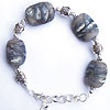 Bracelet made with handmade lampwork glass beads