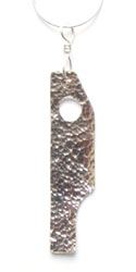 Sterling silver initial pendant hammer finished