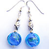 Earrings made with handmade lampwork beads and sterling silver beads